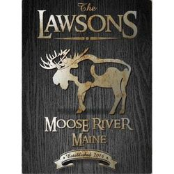 Personalized Moose Canvas Print