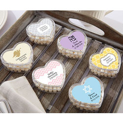 Personalized Religious Heart Party Favor Containers