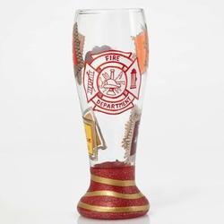 Firefighter's Hand-Painted Pilsner Glass