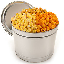 2 Gallons of Traditional Gourmet Popcorn in Tin