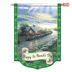 Thomas Kinkade Happy St. Patrick's Day Flag