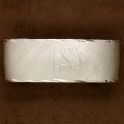 Personalized Brushed Pewter Cuff Bracelet