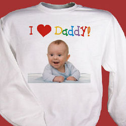I Love Personalized Photo Sweatshirt