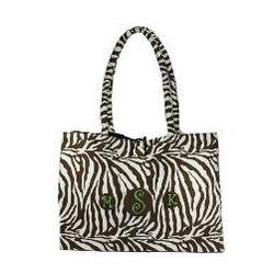 Monogrammed Sahara Zebra Handbag