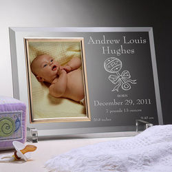 Reflections Birth Announcement Frame