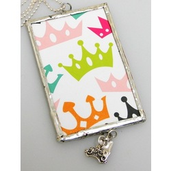 Celebrate with a Crown Framed Necklace