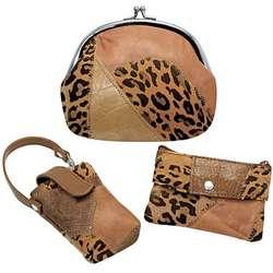 Leopard Bag Set
