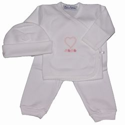 Heart Layette Set