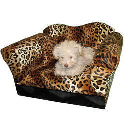 Leopard Stripe Homey Sofa for Pets