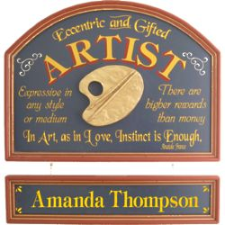 Artist's Personalized Pub Sign