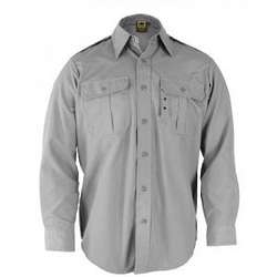 Long Sleeve Tactical Grey Dress Shirt