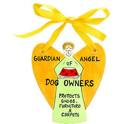 Guardian Angel of Dog Owners Ornament