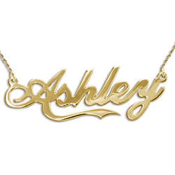 Personalized 14 Karat Gold Coca Cola Font Name Necklace