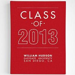 Personalized Class of 2013 Canvas Wall Art