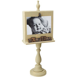Baby Shower Wooden Pedestal Frame