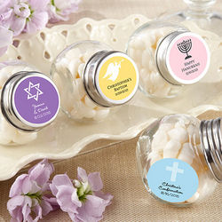 Mini Glass Personalized Religious Party Favor Jars