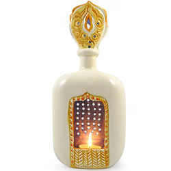 Indian-Inspired Ceramic Tea Candle Lantern