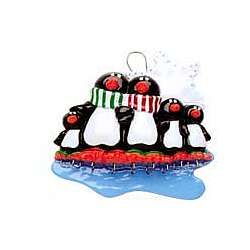 Penguins Personalized Family Ornament