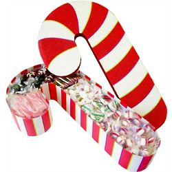 Deluxe Filled Candy Cane Box