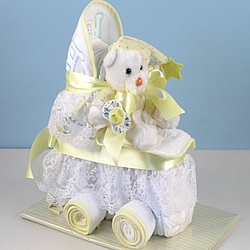 Yellow Baby Diaper Carriage