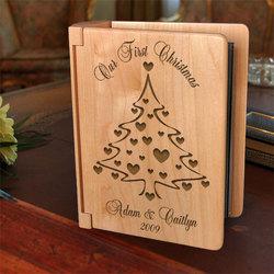 Personalized Christmas Tree Wooden Photo Album