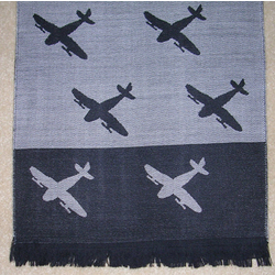 Merino Wool Airplane Scarf