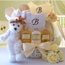 Mommy and Me Golden Spa Gift Basket