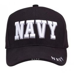 Navy Text Deluxe Cap