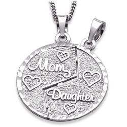 Sterling Silver Mother and Daughter Share-Able Pendant