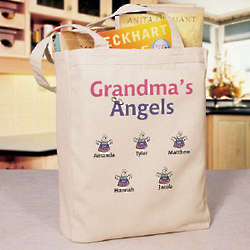 Little Angels Personalized Canvas Tote Bag