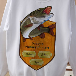 Personalized Fisherman's Plaque Sweatshirt