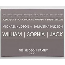 Personalized Linear Family Tree Wall Art
