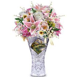 Thomas Kinkade Blossoming Glory Table Centerpiece