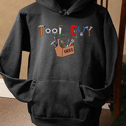 Tool Guy Personalized Black Hoodie