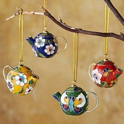 Handcrafted Teapot Ornaments