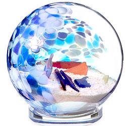 Sea Glass Globe Paperweight