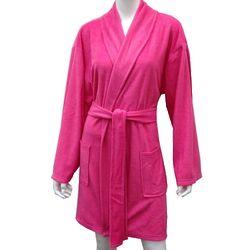 Women's Super Soft Minky Fuchsia Bathrobe