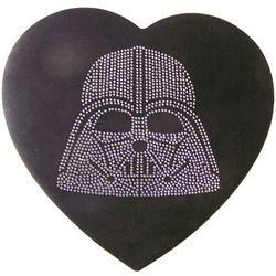 Star Wars Darth Vader Heart Shaped Felt Box with Chocolate Candy