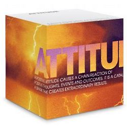 Attitude Lightning Self-Stick Sticky Note Cube