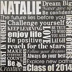 Personalized Dream Big Graduation Canvas Wall Art