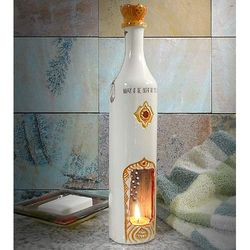Indian-Inspired Lights Go Out Ceramic Tea Candle Lantern
