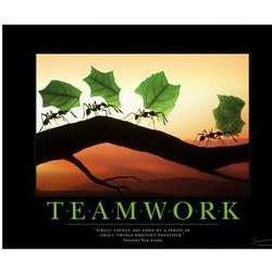 Teamwork Ants Motivational Poster