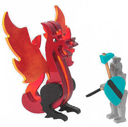 Fun-to-Build Wyvern Dragon & Knight Kit