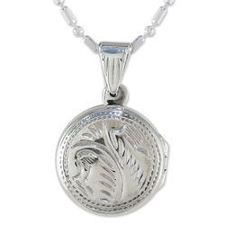 Always Love Me Sterling Silver Locket Necklace