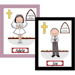 Personalized First Communion Boy or Girl Cartoon