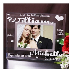 Mr. and Mrs. Personalized Glass Picture Frame