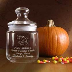 Personalized Make Your Own Pumpkin Glass Jar