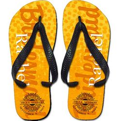 Personalized Children's Spotted Orange Flip Flops