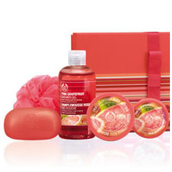 Pink Grapefruit Shower Scrub & Soften Gift Set