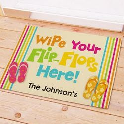Personalized Flip Flops Beach House Doormat